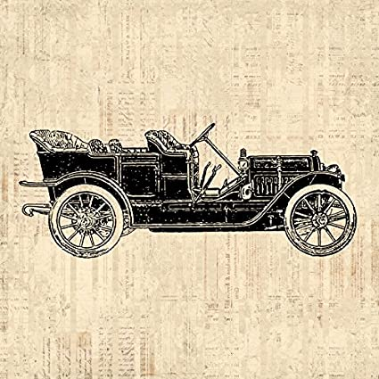 Amazon.com: Vintage Classic Automobile Wall Art Antique Car Print ...