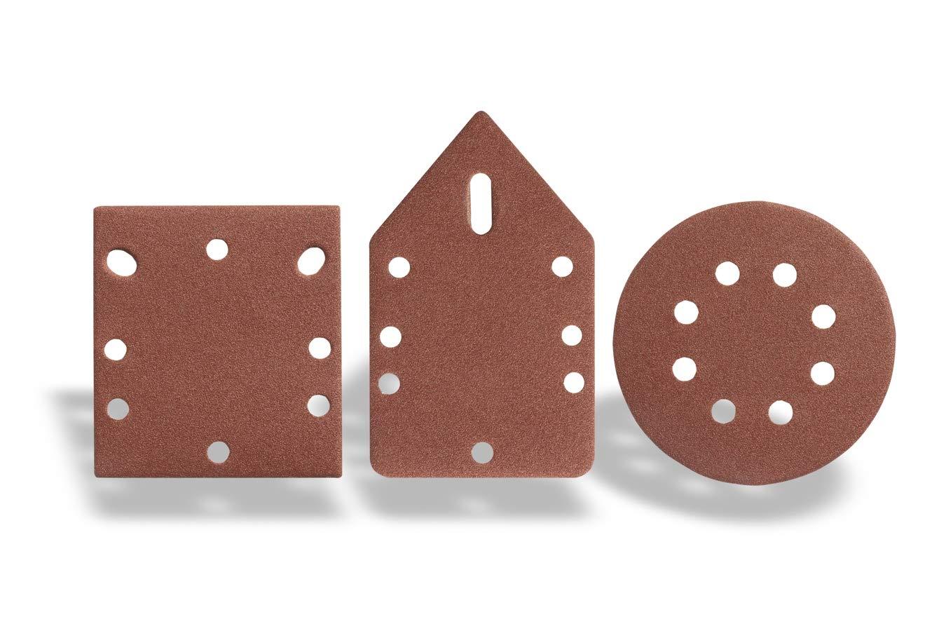 Wechselbare Schleifplatten mit Klettverschluss Dreieickschleifer Staubfangbeh/älter und Satz Schleifbl/ätter Exzenterschleifer und Schwingschleifer WOLFGANG/® 3-in-1 Multischleifer 260 Watt