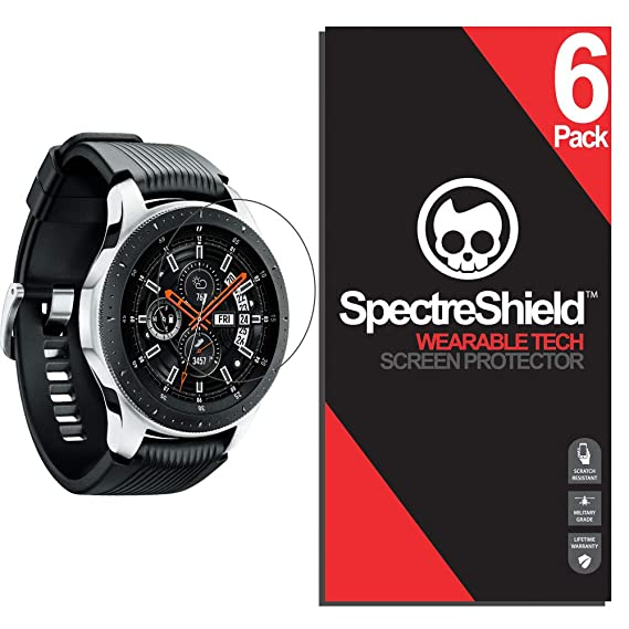 Spectre Shield for Samsung Galaxy Watch 46mm / Gear S3 Frontier/Classic Screen Protector (6-Pack) Accessory Screen Protector for Samsung Galaxy Watch ...