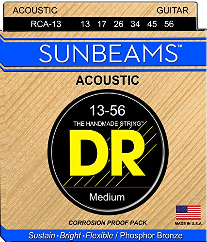 DR Strings Sunbeam - Phosphor Bronze AcousticRound Core 13-5