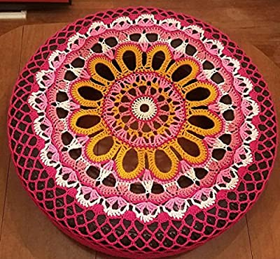 Pink Sunflower Crochet Spare Tire Cover