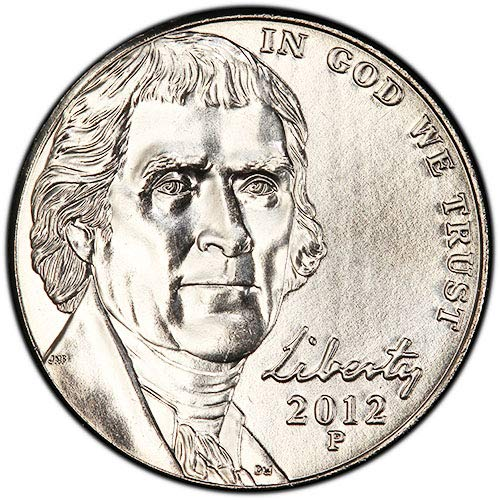 2012 P & D BU Jefferson Nickel Nickel Choice Uncirculated US Mint 2 Coin ()