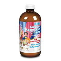 Lifetime Kids Calcium Magnesium Citrate | Support Bone, Muscle & Teeth Health | Easy Absorption, Dairy & No Gluten | Cherry Flavor | 16 FL oz