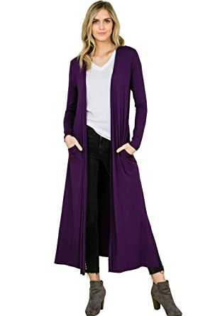 4c49397c024e7 Annabelle Women s Knit Solid Long Sleeve Open Front Cardigan Anthra Small  T1163