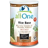 allOne Rice Base Multiple Vitamin & Mineral Powder   Once Daily Multivitamin, Mineral & Whole Food Amino Acid Supplement w/ 6g Protein   30 Servings