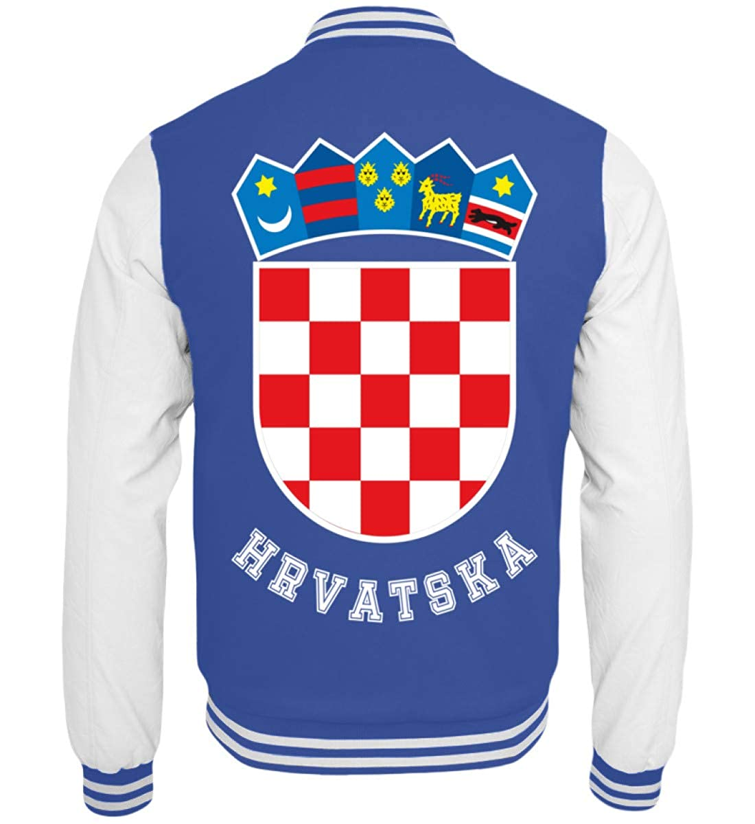 Hochwertige College Sweatjacke - Kroatisches Wappen Hrvatska T-Shirt Kroatien Trikot Geschenk Generic A19K1YUO_JH043*B*__XS__6751
