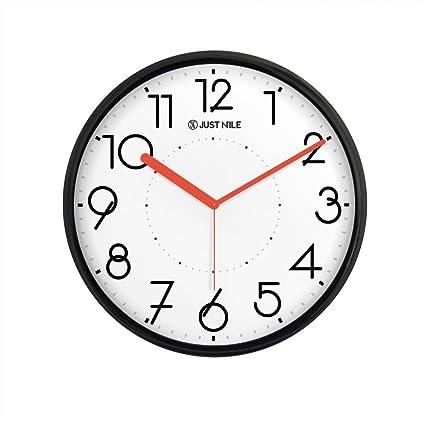 nice looking modern wall clocks amazon. JustNile Silent Non Ticking Modern Wall Clock  13 quot Amazon com