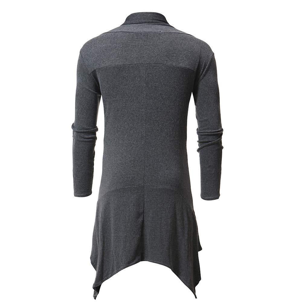 Amazon.com: Faionny Men Knit Coat Solid Knitwear Cloak Shawl Warm Parka Long Windbreaker: Clothing