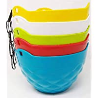 Chain Hanging Flower Pot, Hanging Pot (Pack of 5) Plant Container Set (Plastic) Plant Container Set fp-03-5pc