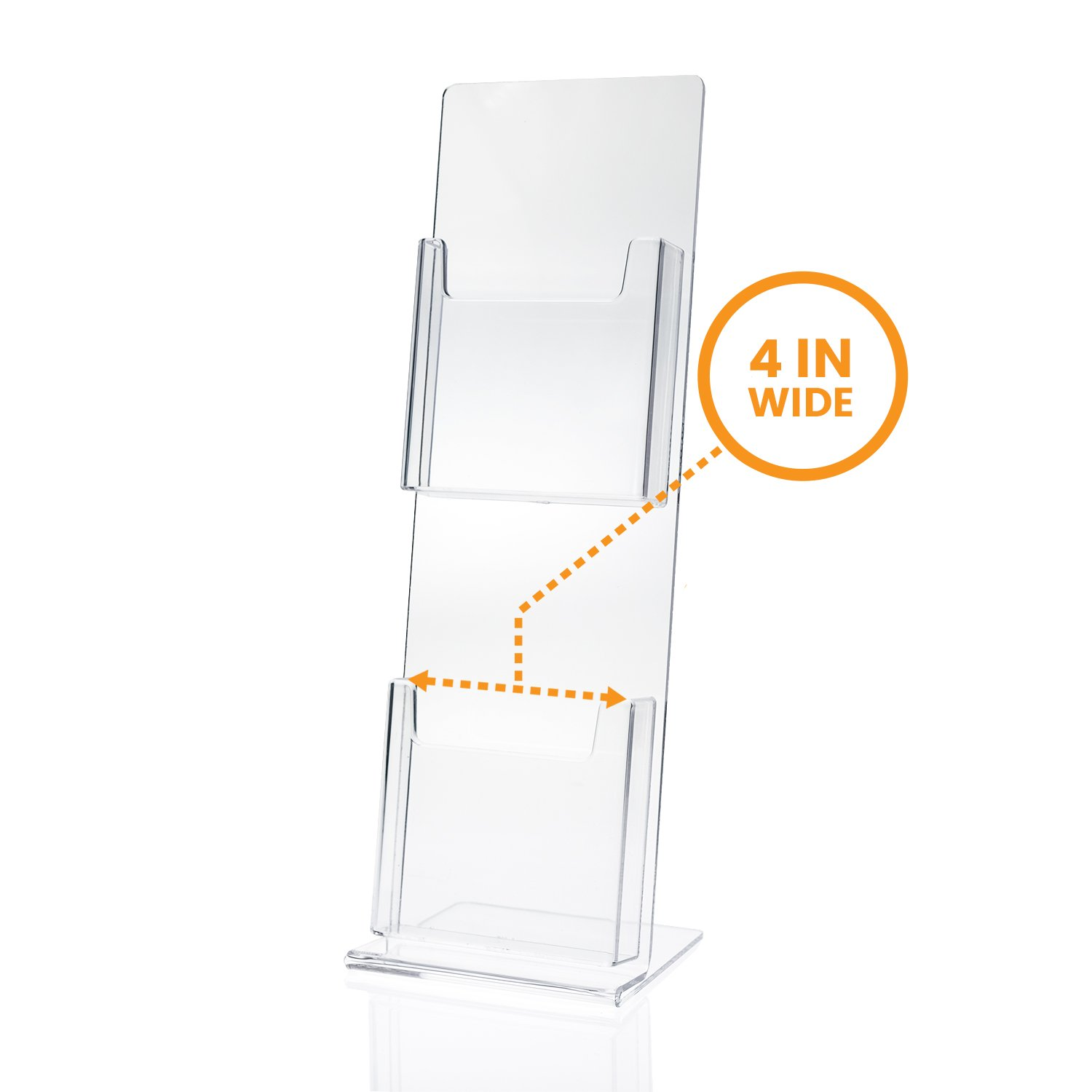 Source One Deluxe 2 Tier Postcard Holder (4 x 6, 1 Pack)