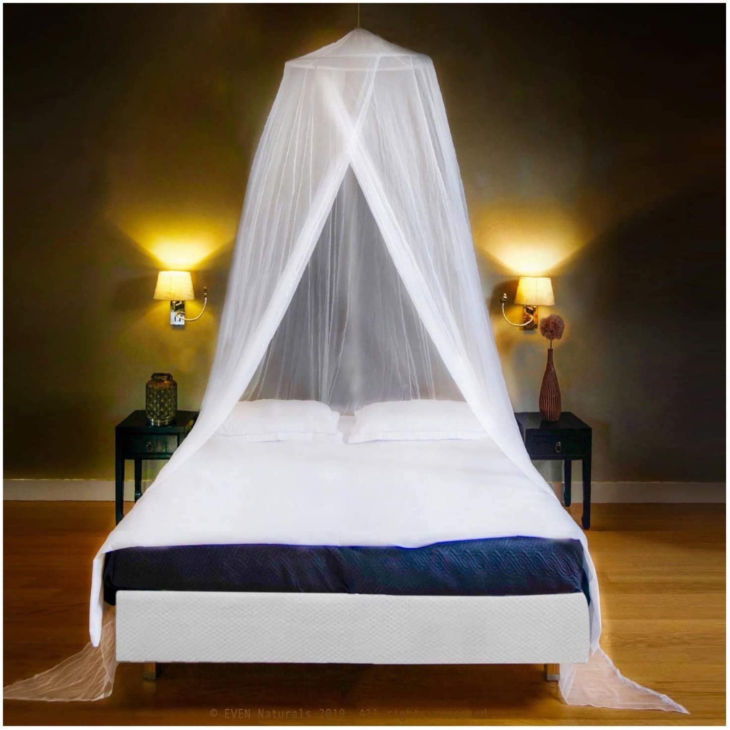 Finest Holes Double Curtain Netting with Entry Twin King Size baixiang Mosquito Net Bed Canopy Storage Bag Quick Easy Installation Large: for Single No Chemicals Added 335 inch