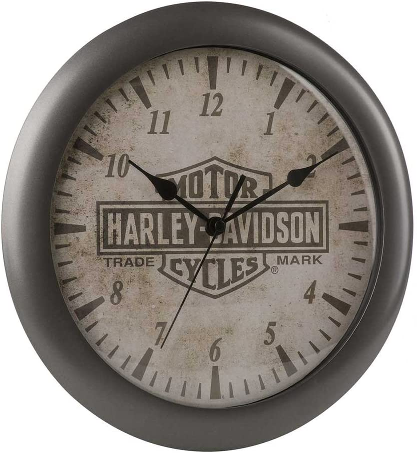 Harley-Davidson Core Trademark Bar & Shield Logo Clock, 11 inch HDX-99105