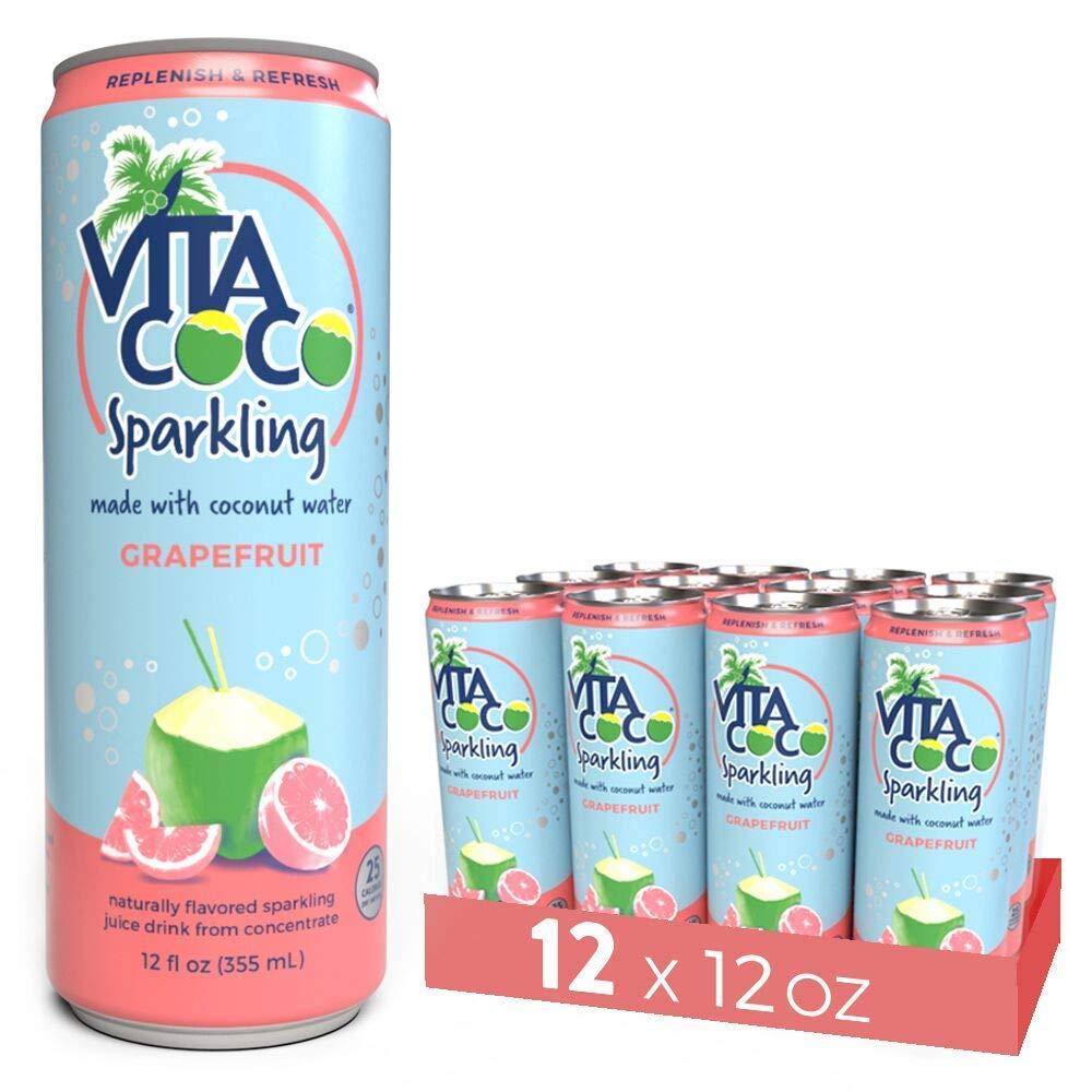 Amazoncom Vita Coco Sparkling Coconut Water Grapefruit Low