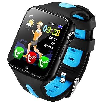 Amazon.com: Reloj de pulsera para niños con GPS, podómetro ...