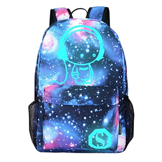 5aa4c06f6f96 Fabal Galaxy Cosmos Zipper Women Men Backpacks Printing School Bags Teens  Girls Boys Travel (A