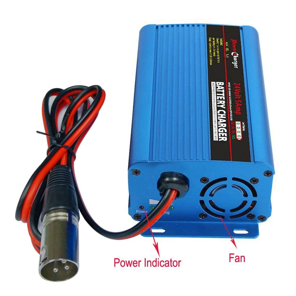 Amazon.com: 24V 5Amp Automatic Battery Charger With XLR Connector For Car  Scooter Wheelchair Motorcycle eBike: Automotive