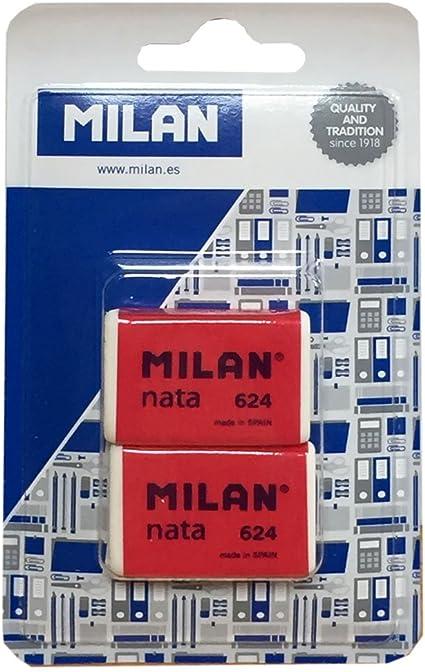 BPM10098MP PACK DE 2 GOMAS DE BORRAR MILAN NATA 624: Amazon.es ...
