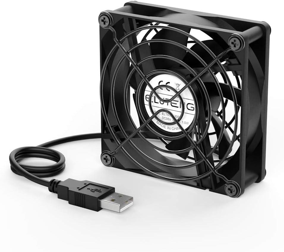 Eluteng Fan Usb 80 Mm 5 V 0 24 A Usb Cooling Fan Very Computers Accessories