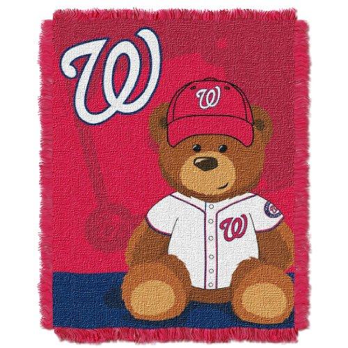 Washington Nationals Clock (MLB Washington Nationals Field Bear Woven Jacquard Baby Throw, 36