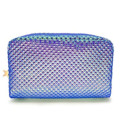 233d0033c1f6 Holographic Cosmetic Bag Makeup Bag Toiletry Travel Bag Handy Large ...