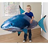 Zantec Juguete plástico de la Navidad del juguete del control remoto de los niños grandes inflables del tiburón eléctrico de DIY (no incluye el nitrógeno)