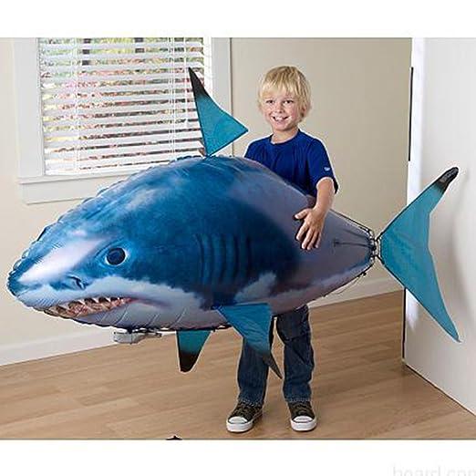Lanlan DIY gran tiburón eléctrica hinchable globos niños mando a ...