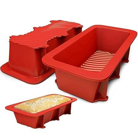 Baifeng - Molde de silicona para horno de cocina, resistente al ...