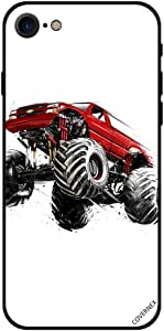 For iPhone 7 Case Racing Jeep Flying