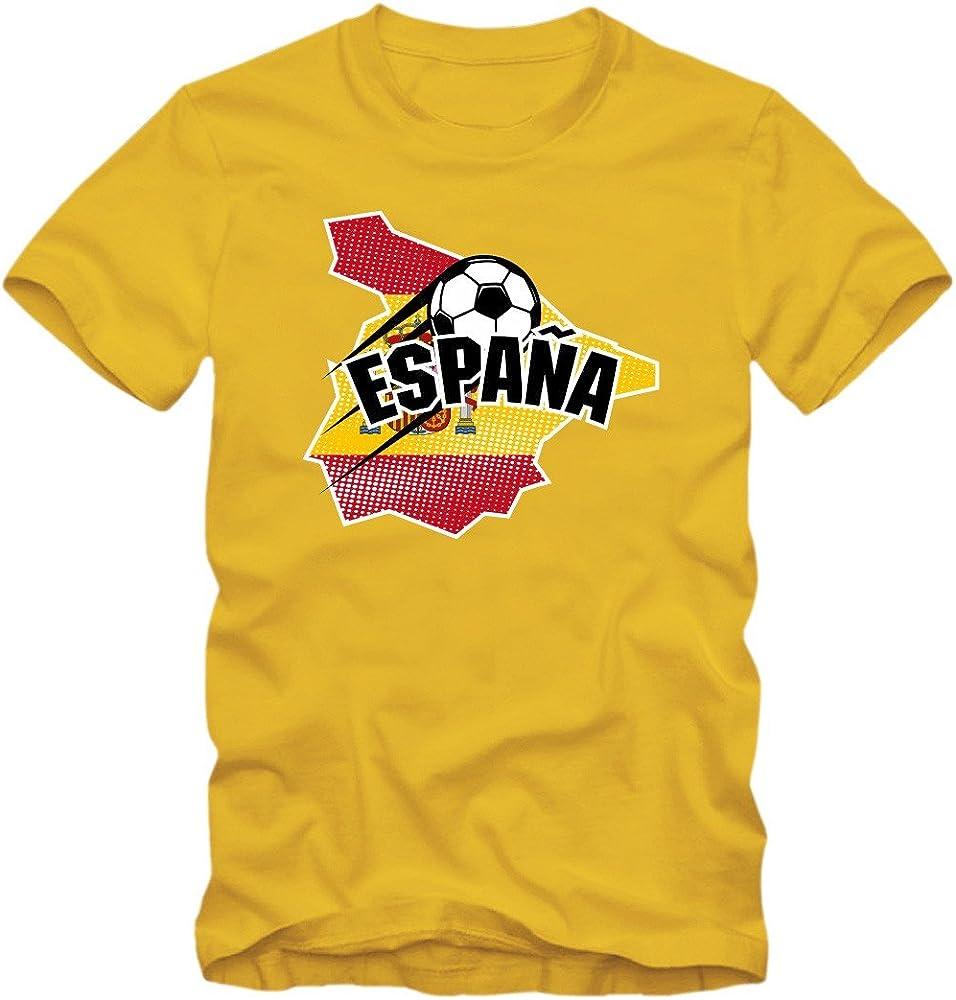España Campeonato De Europa 2016#1 Camiseta | T-Shirt | Fútbol | Hombre | Jersey | La Furia Roja | Equipo Nacional, Colour:Yellow (Gold);Size:Small: Amazon.es: Ropa y accesorios