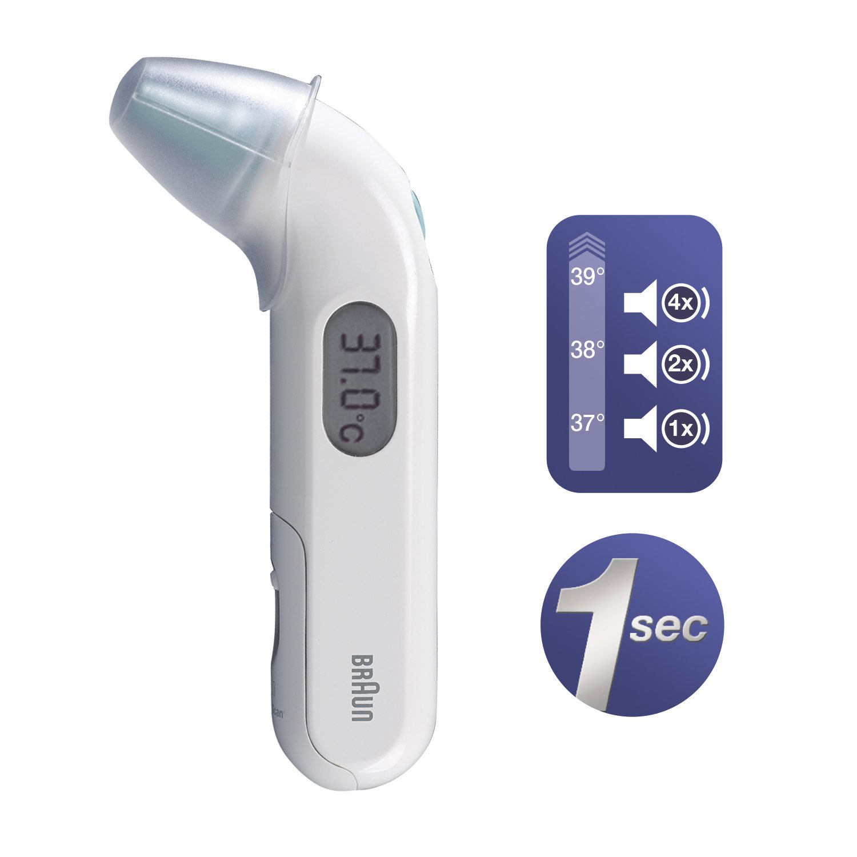 Braun irt3030 Thermoscan 3 por infrarrojos termómetro de oído: Amazon.es: Salud y cuidado personal