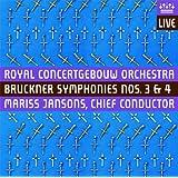 ブルックナー : 交響曲 第3番&第4番 (Bruckner : Symphonies Nos.3 & 4 / Royal Concertgebouw Orchestra , Mariss Jansons (chief conductor)) (2 Discs) [輸入盤・日本語解説付] - Hybrid SACD