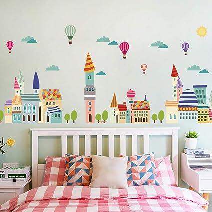 Car Cartoon Boys Gift Waist Line Decals Wall Sticker Mural Decor Bedroom