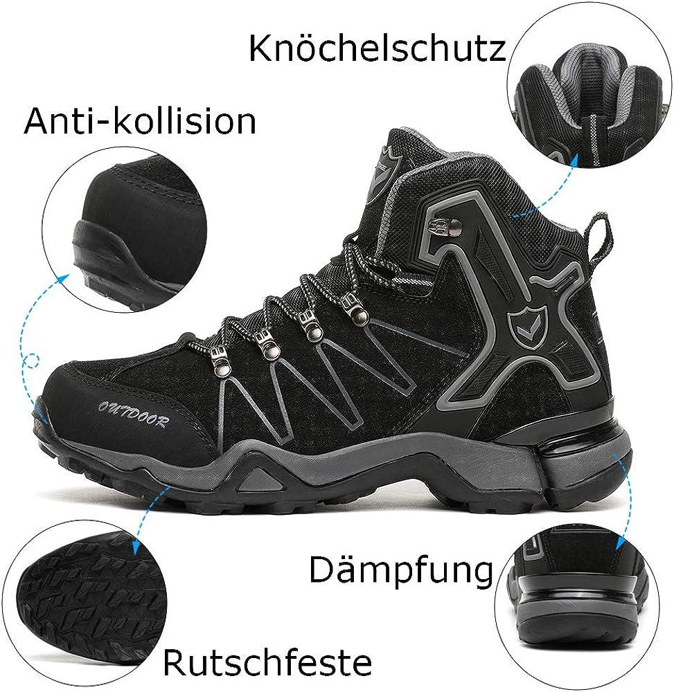 Kinder Wanderschuhe Jungen Wanderstiefel M/ädchen Outdoor Trekking Schuhe rutschfeste Mid Trekkingstiefel f/ür Unisex Herren Damen