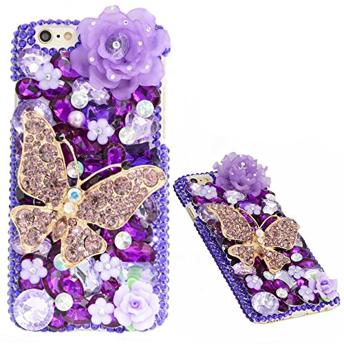 KAKA(TM 3D Handmade Fashion Design Rhinestone Bling Crystal Case Cover For IPhone 4/4s Pattern