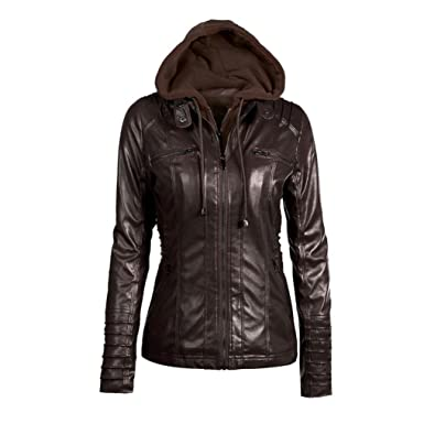 Femme Veste à Capuche Blouson Manteaux Outwear Zipped Jacket