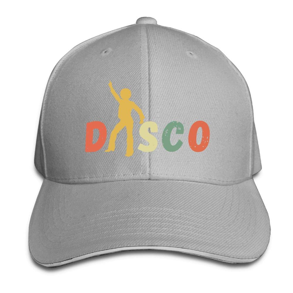 JustQbob1 1970 S Style Rainbow Disco Outdoor Snapback Sandwich Cap Adjustable Baseball Hat Hip Hop Hat