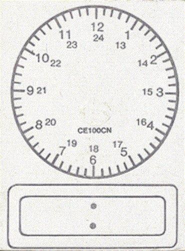 Center Enterprise CE100CN 24 Hour Digital Clock Stamps
