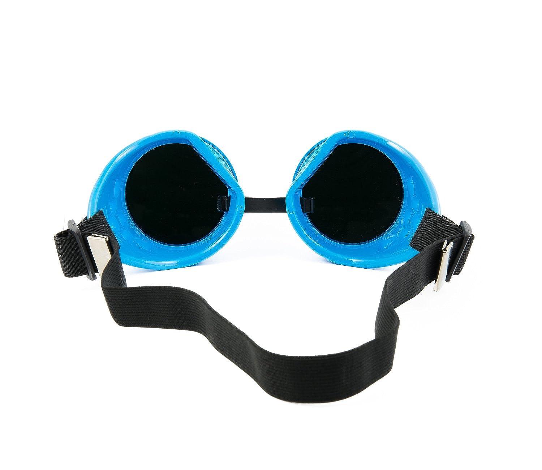 4sold (TM) Noir Cyber Steampunk Lunettes de natation Rave Vintage Style victorien gothique comme Lunettes de soleil noir goggle gold Taille universelle oZbgz1