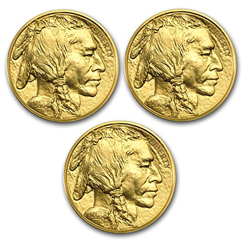2018 1 oz Gold American Buffalo Coin BU (Lot of 3) Brilliant Uncirculated