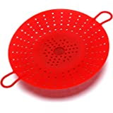 JOUDOO 2 Pcs Silicone Steamer, Durable Vegetable Steamer Basket Insert for Pressure Cookers, Microwavable, Multicookers