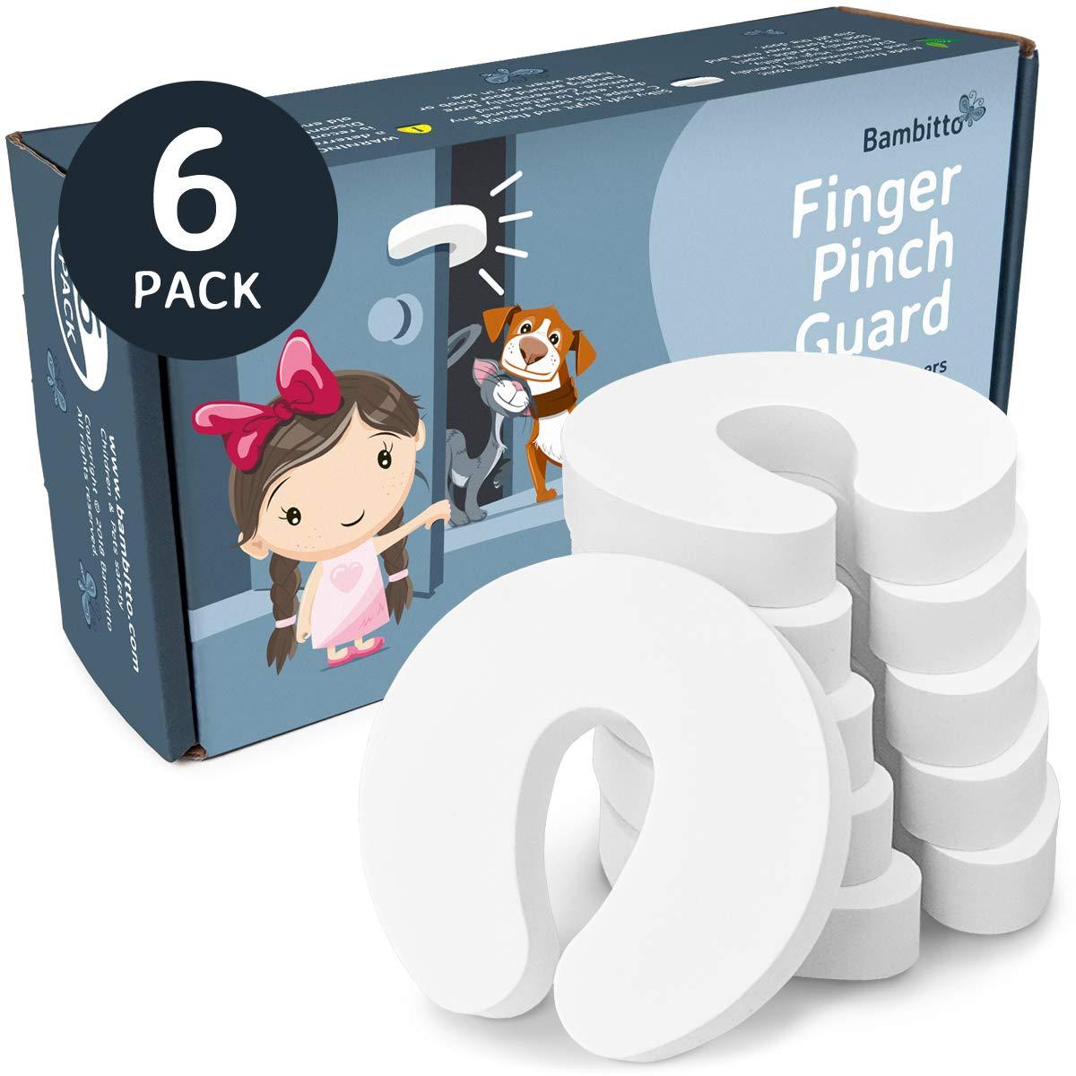 Roadiress 2pcs Baby Kids Children Finger Hands Protector Door Hinge Plastic Pinch Guard Safety Stopper Safety Door Hinge Stopper