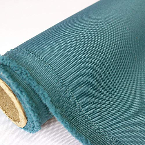 Oxford canvas Fabric Water Resistant Outdoor 600 Denier Indoor/Outdoor Fabric by the yard PU Backing UV Protector (Cadet Blue)