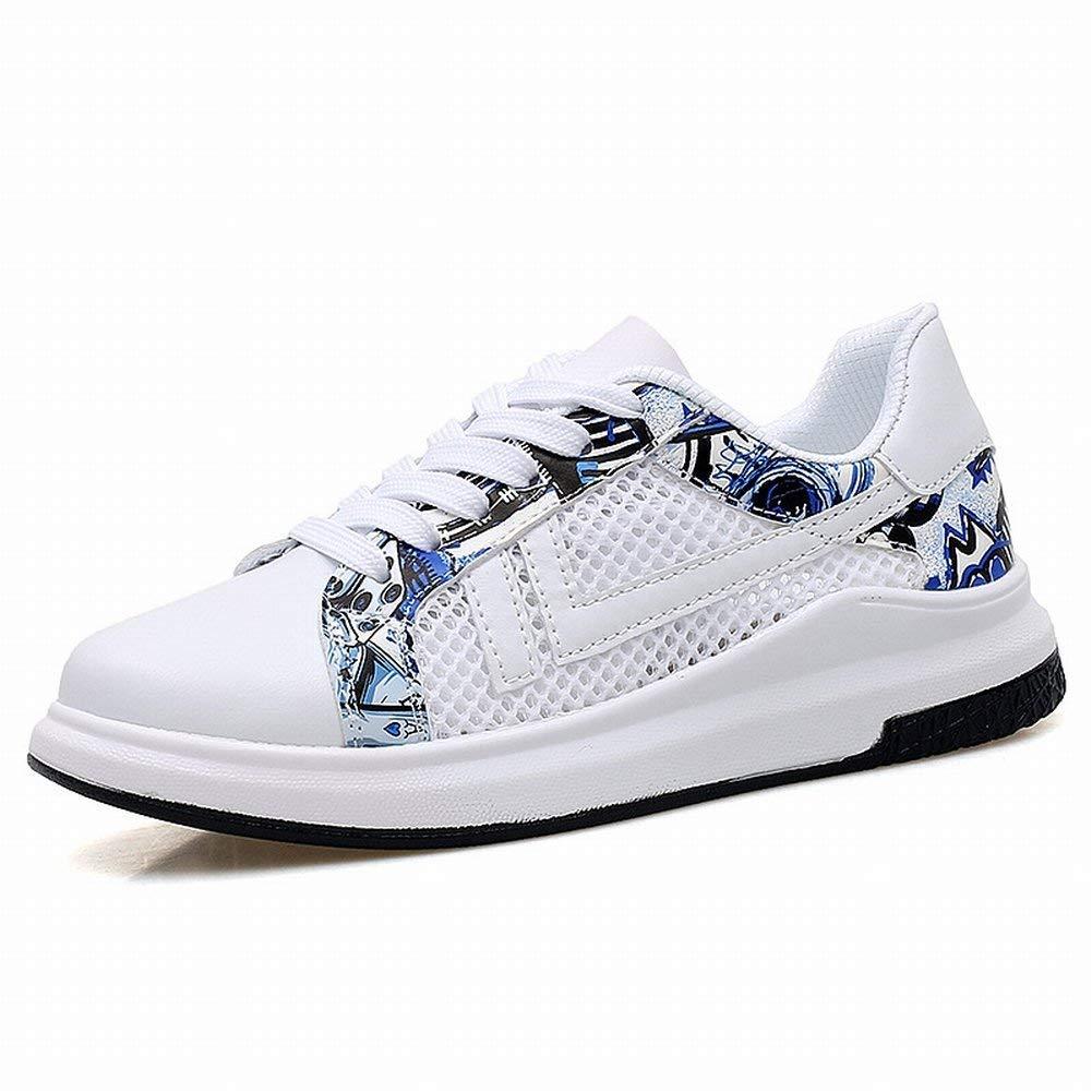 HhGold Mode-Trend Sportschuhe Klassische Allgleiches Paar Schuhe Bequeme Atmungsaktive Freizeitschuhe (Farbe   Weiß Blau Größe   43)