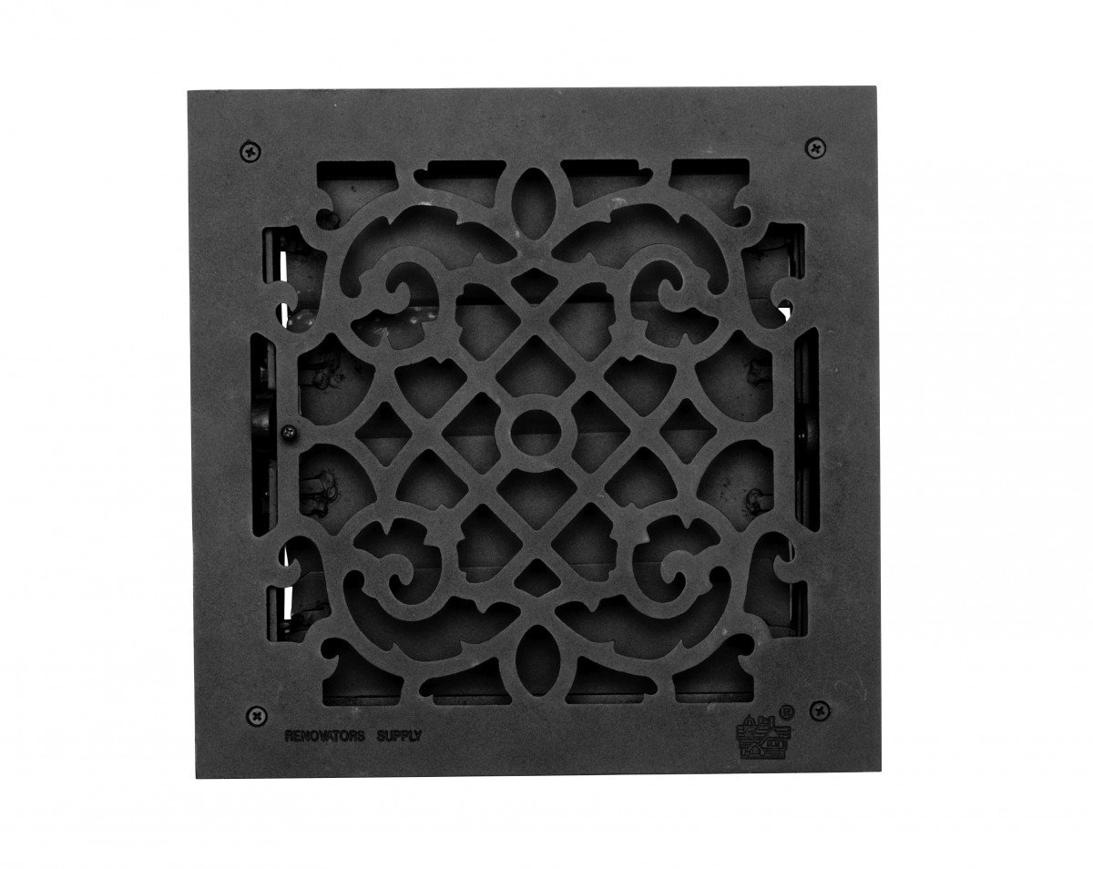Floor Heat Register Louver Vent Victorian Cast 12 X 12 Duct | Renovator's Supply