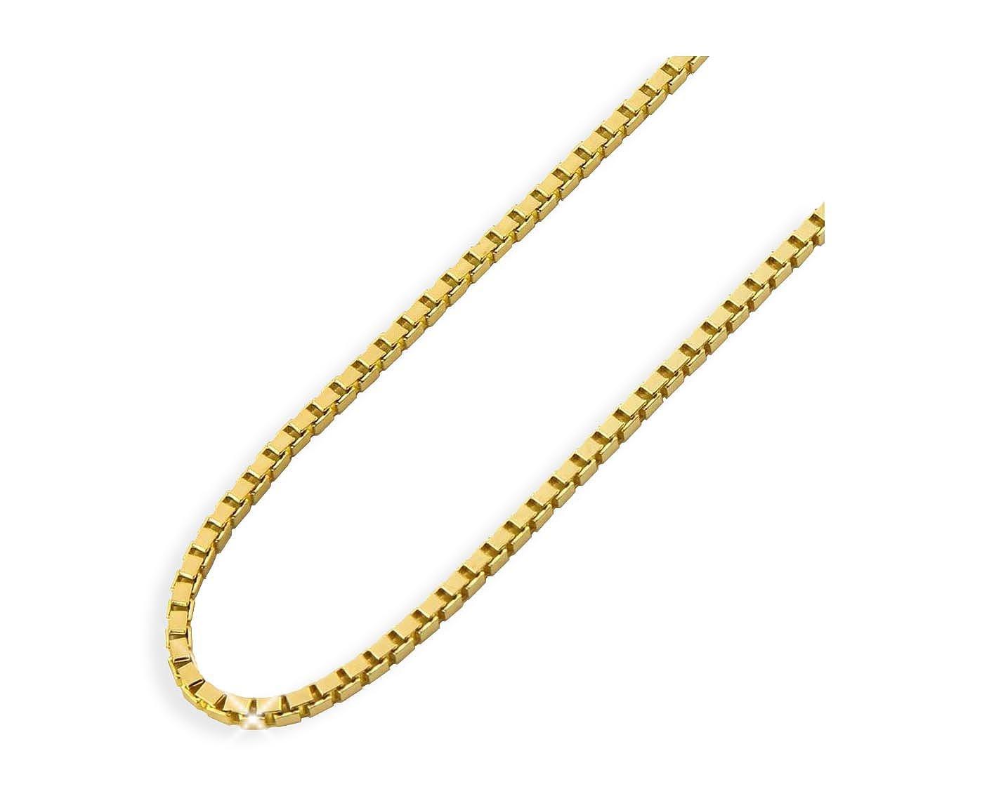 Gelbgold Venezianerkette 14 Karat 585 14K Kinderkette Taufkette 36cm mittel (010)