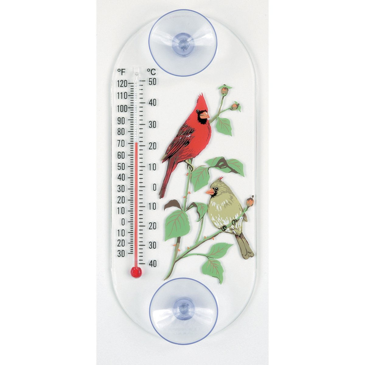 Apsects 062 Cardinal Pair Window Thermometer