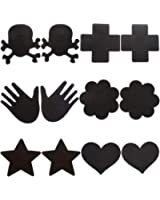 Ayliss Chic Assorted 6/12Pairs Nipple Covers Disposable Self-Adhesive Breast Petals