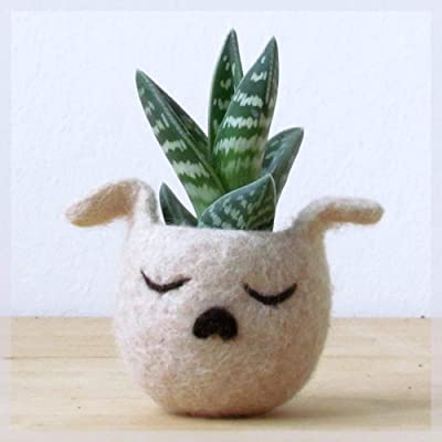 Succulent planter vase | Animal planter - Dog lover gift - Cactus planter