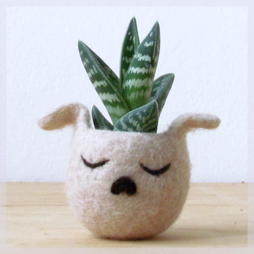 Succulent planter vase   Animal planter - Dog lover gift - Cactus planter