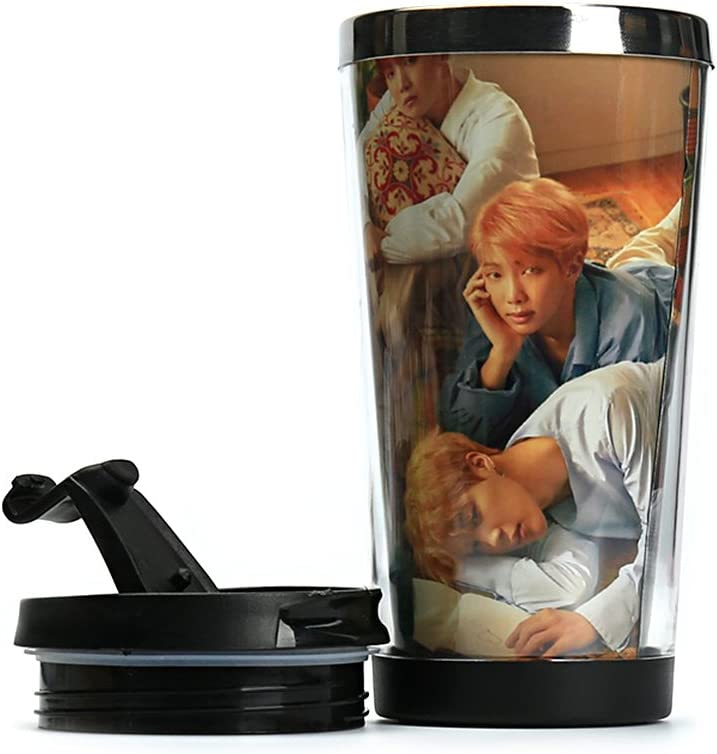 Beautyonline KPOP BTS Bangtan Boys Stainless Steel Drinking Bottle Vacuum Cup LOVE YOURSELF Double Wall Insulated Travel Camping Hiking Cycling Mug